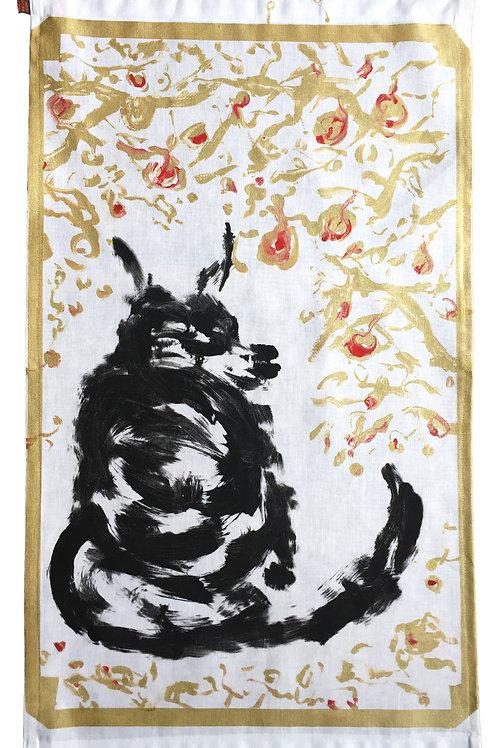 Fox in The Woods Tea Towel