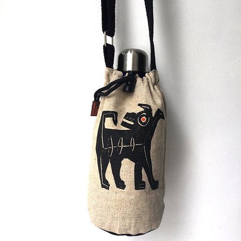 Black Terrier on bottle bag