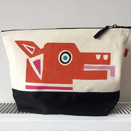 Orange Dog/Red Dog Dipped Canvas Bag