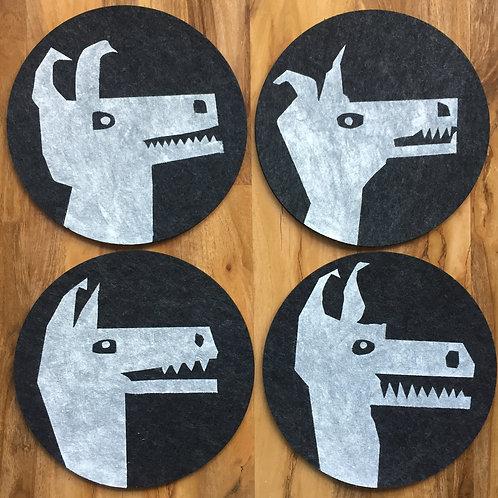 4 arctic fox placemats