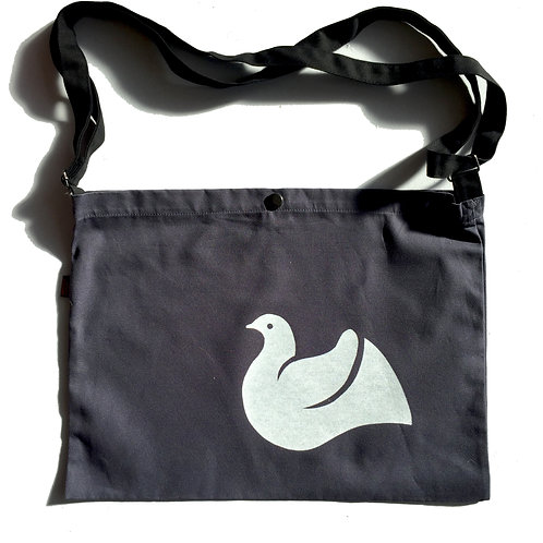 White Dove Canvas Messenger Bag