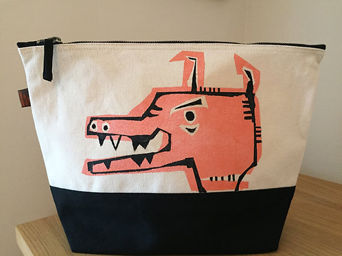 Mad Rose Gold Dog Dipped Canvas Bag