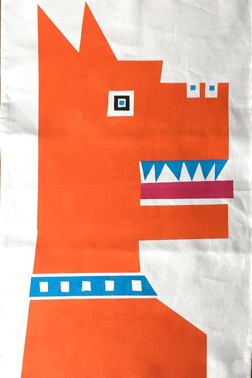 Big Orange Dog - Tea Towel