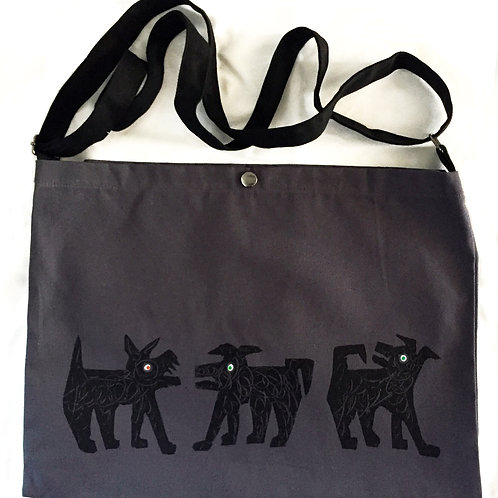 Three Small Dogs Canvas Bag