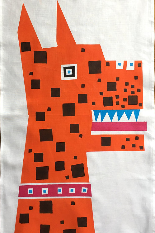 Square Spot Dog - Tea Towel