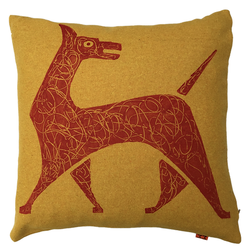 Scribble Dog - Felt Cushion