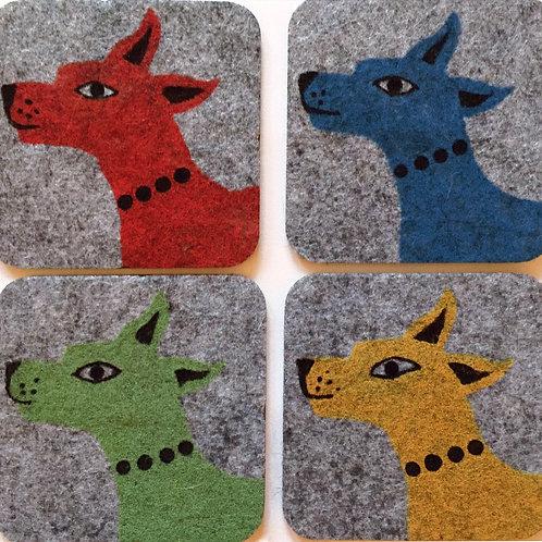 Four Colour Dog Coasters