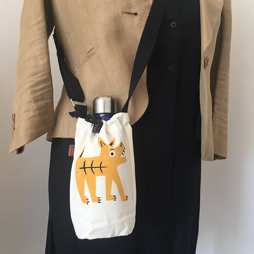 What a cheeky Terrier Canvas Bottle Bag