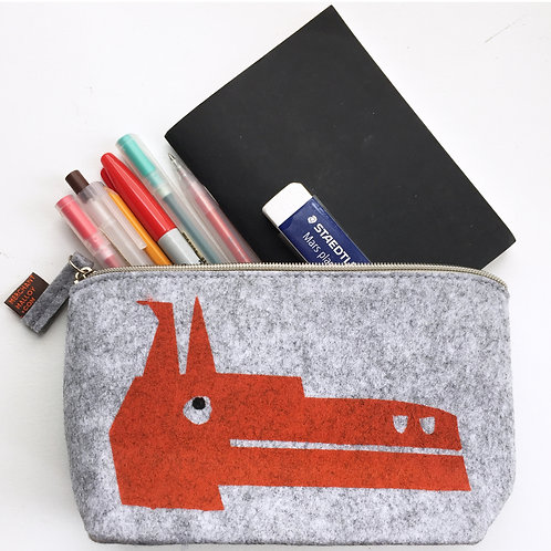 Orange Dog Felt Small Accessory Bag