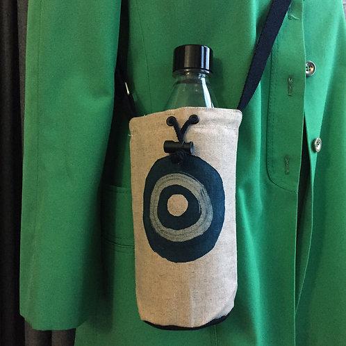 Denim Blue Target  Hemp Bottle Bag