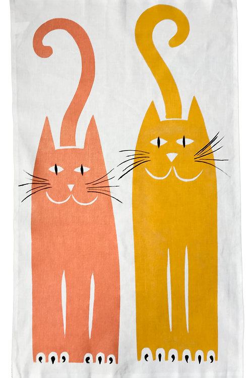 Two Cats - Tea Towel