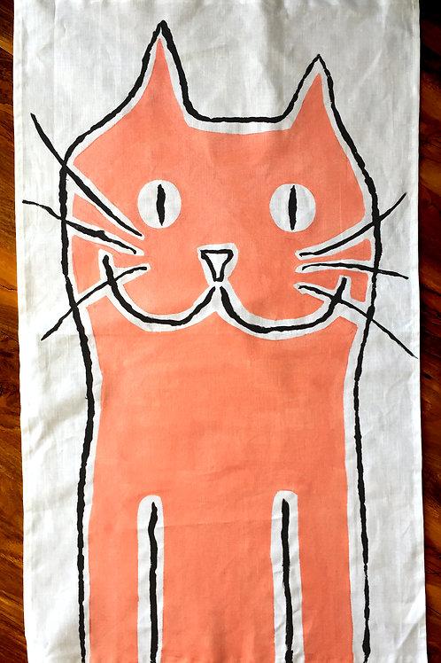 The Big Salmon Cat - Tea Towel