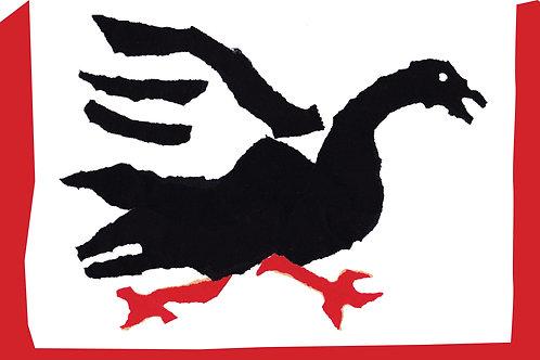 Fleeing Goose Greetings Card