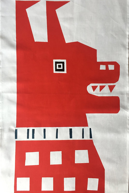 Red Bull Dog - Tea Towel