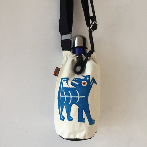 Cheeky Terrier Canvas Bottle Bag