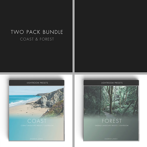 TRAVEL | 2x Bundle Preset Pack for Adobe Lightroom - Coast - Forest