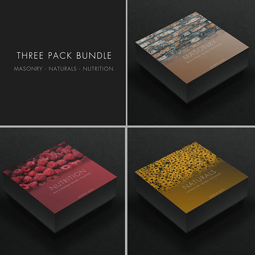 3 Texture Bundle Pack - MASONRY, NATURALS & NUTRITION