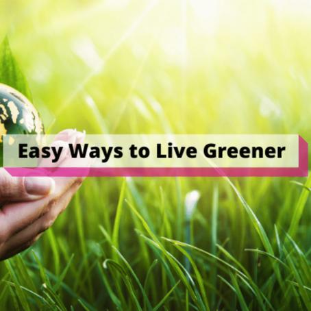 Easy Ways to Live Greener