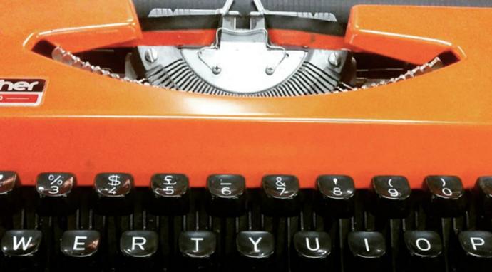 Copywriting Typewriter Orange Oh My Word Twitter