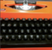 Copywriting Typewriter Orange Oh My Word Twitter