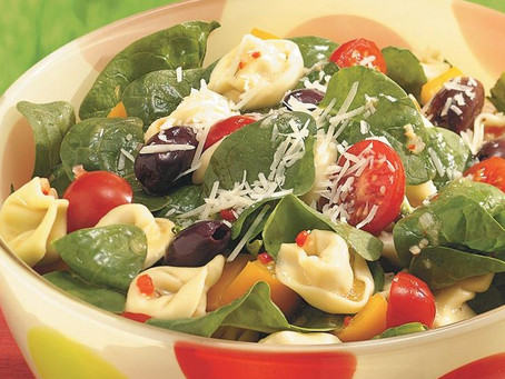 Spinach & Tortellini Salad