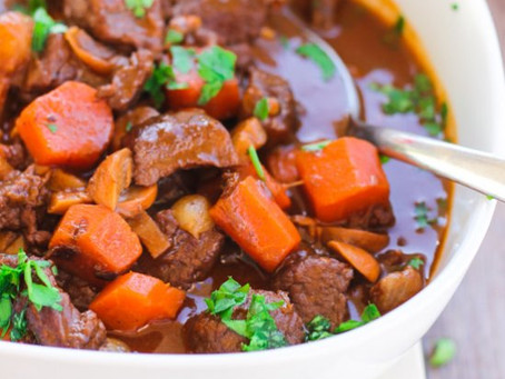 Moroccan Beef and Chickpeas Stew in Slow Cooker for Mothers Day