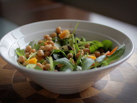 Three ways with Chickpea Marinated Salad