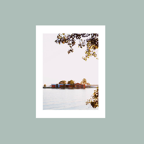 Nahkahousut-saari -juliste 30x40cm