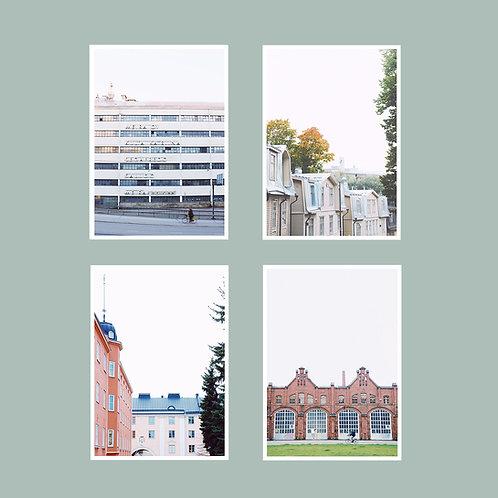 Vallila-postikorttisetti 4 kpl A6