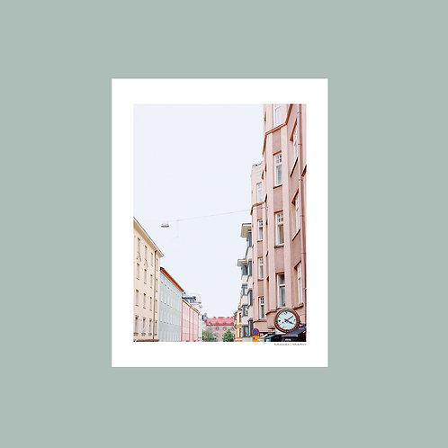 Korkeavuorenkatu-juliste 30x40cm
