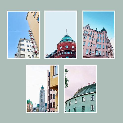 Kallio-postikorttisetti 5 kpl A6