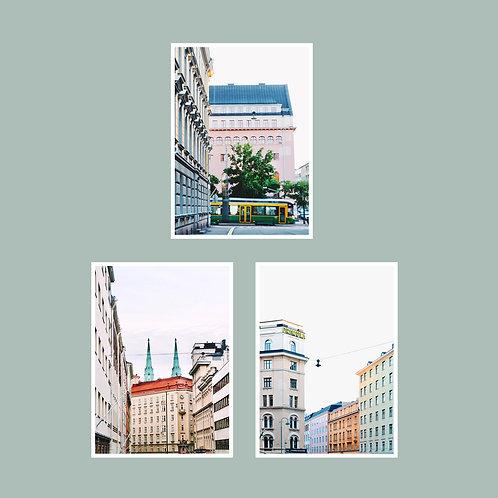 Rööperi-postikorttisetti 3 kpl A6