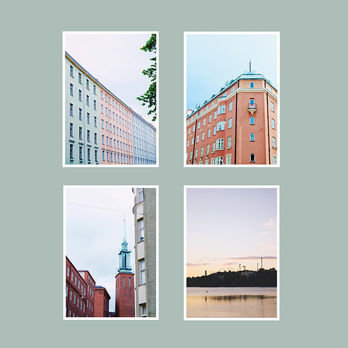 Töölö-postikorttisetti 4 kpl A6