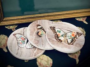 "Handmade ""Vintage"" Butterfly Coasters"