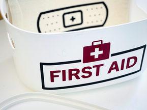 Handmade First Aid Storage