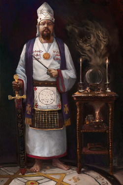 Portrait of Solomonic Magician
