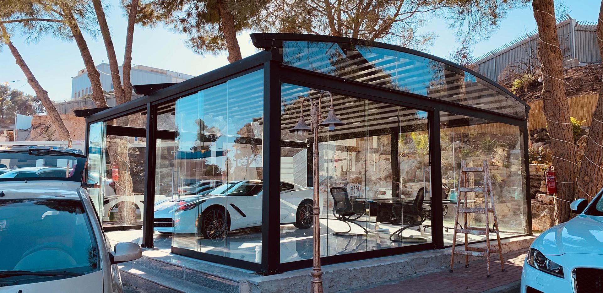 פרגולה אלומיניום חשמלית דגם Premium Image