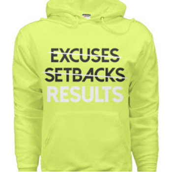 Results Sweatshirt: Lime Green/White