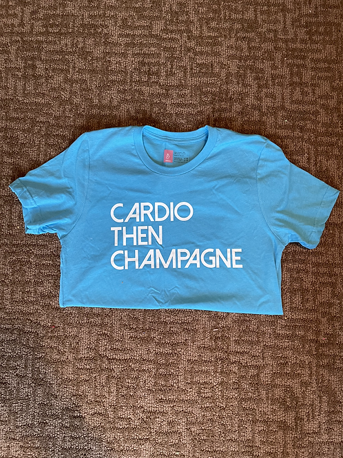 Cardio then Champagne  Aqua Tshirt