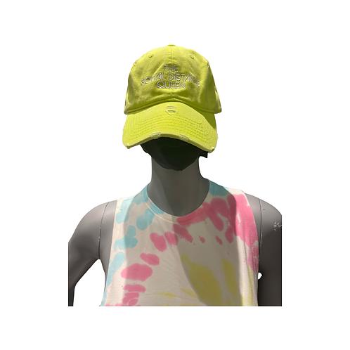 The Social Distance Queen hat: Neon Yellow