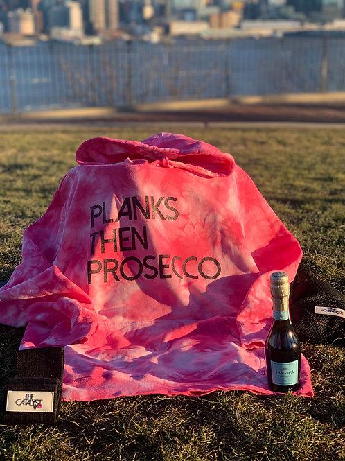 Planks Then Prosecco Pink Tie Dye Sweatshirt