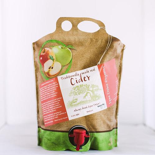 Lyne Down Organics Medium Cider - 3 Litre Pouch ℮