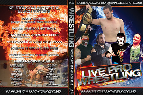 March 21st 2015 DVD - Show DVD