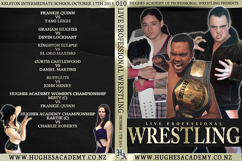 October 17th 2015 - Show DVD