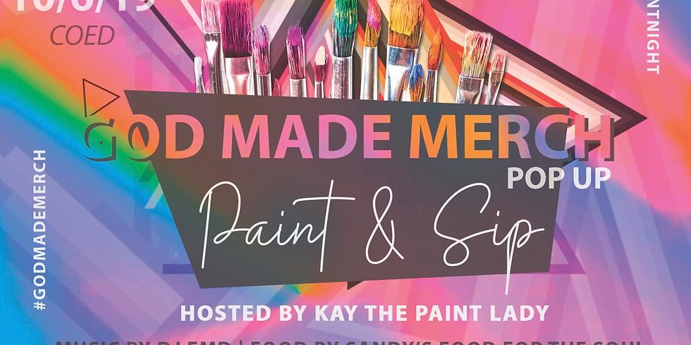 God Made Merch Popup: Paint & Sip