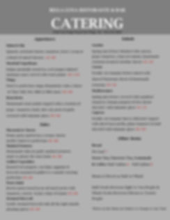 Catering Menu for Advertising- January 2