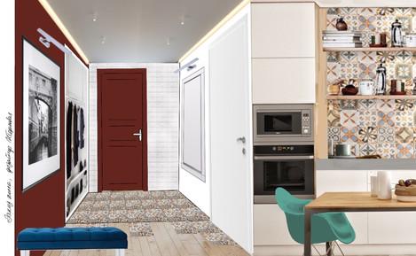 Дизайн проект квартиры 47кв.м. ЖК Николаевский дом, Москва
