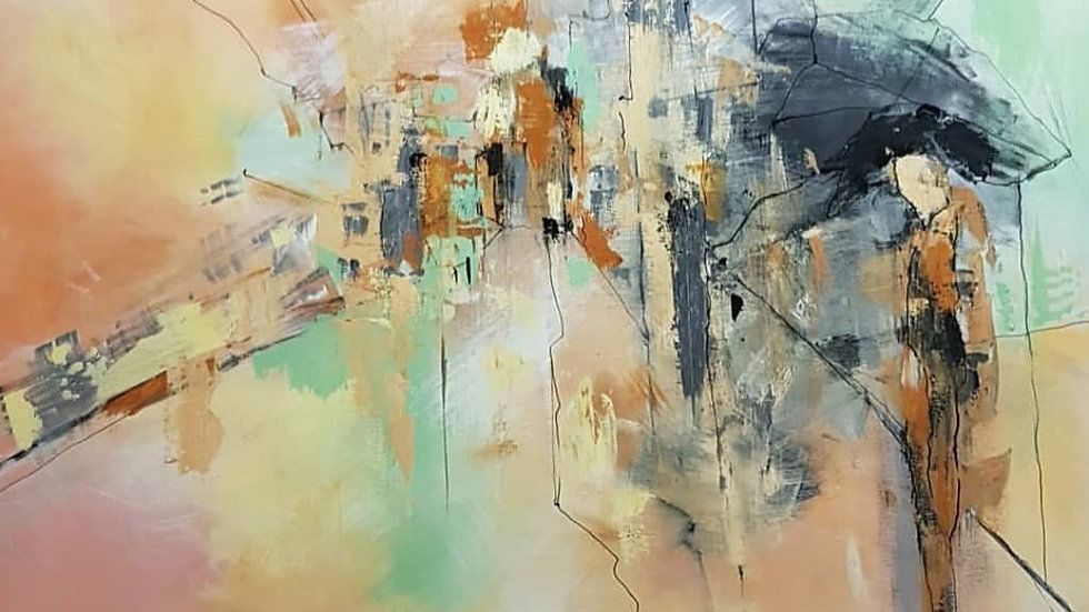 Картина « Ожидание» 100*120 см. Холст, масло.