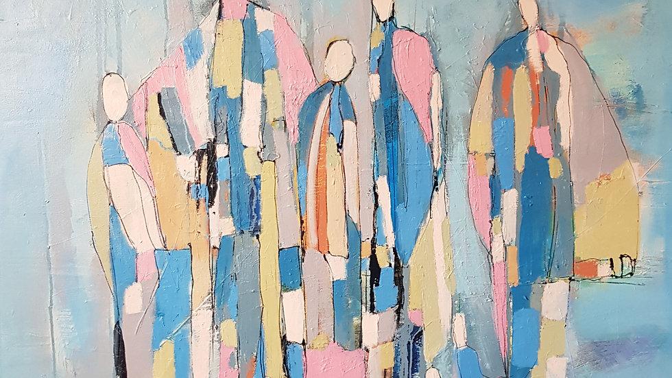 Картина «Пять ангелов», 100*100 см, холст, масло