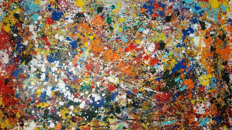 "Картина ""Энергия"" , холст масло, 150*100см"